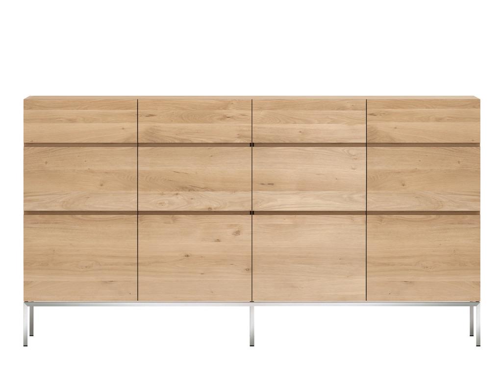 Ethnicraft Ligna Oak dressoir -4 deurs hoog