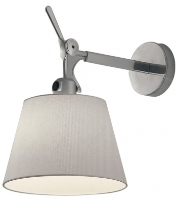 Artemide Tolomeo Parete diffuser wandlamp-Satijn grijs-Kap � 18 cm