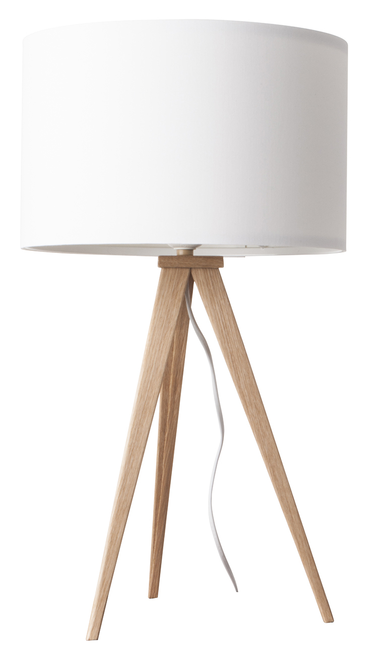 Zuiver Tripod Wood tafellamp-Wit
