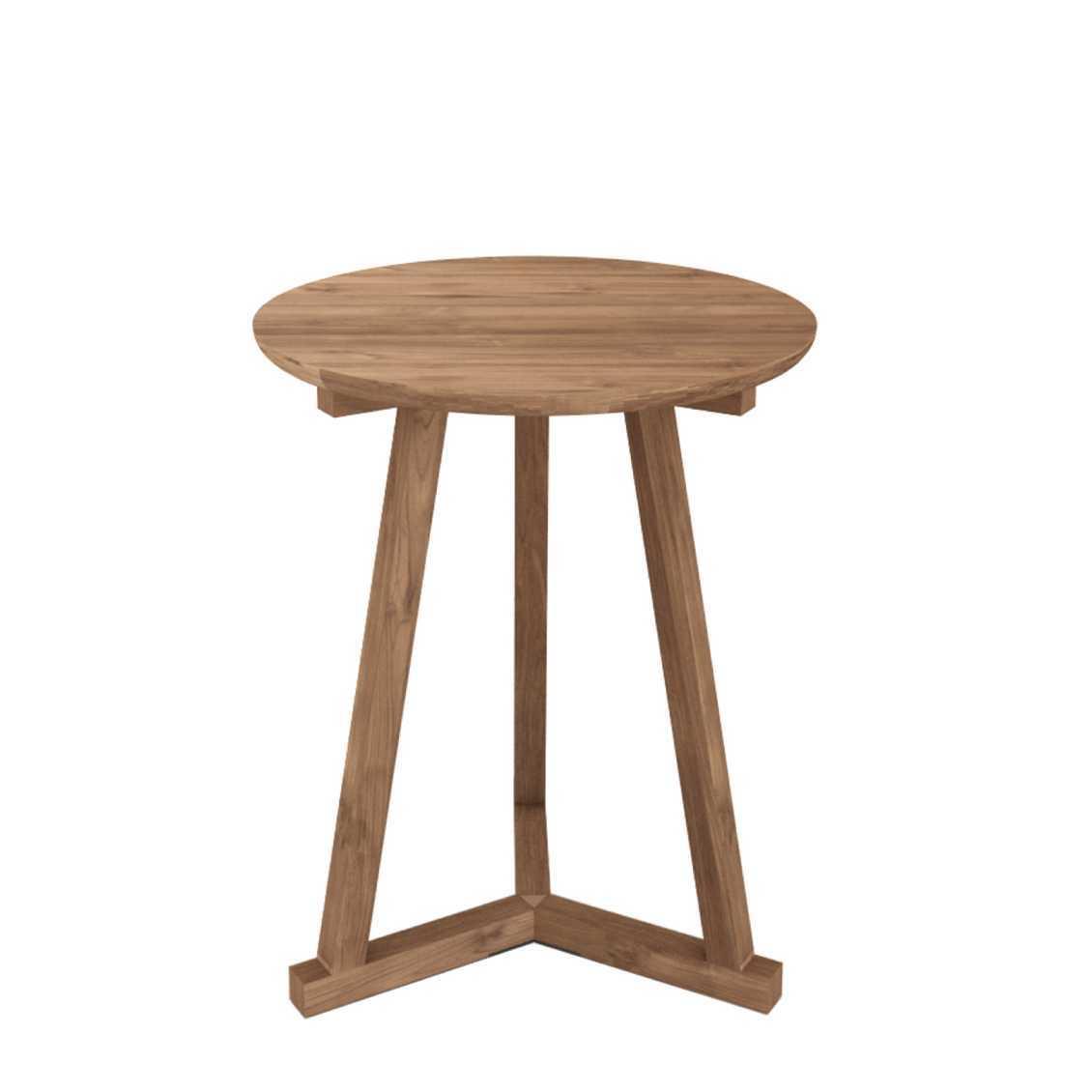 Ethnicraft Tripod teak tafel-ø 46 cm