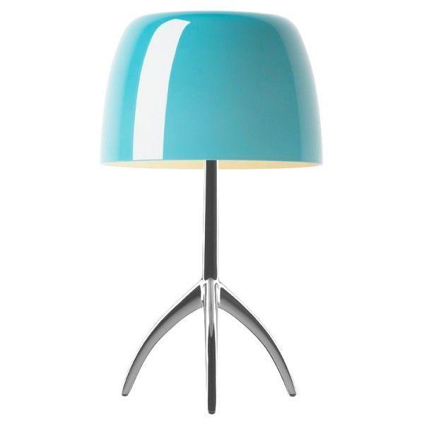 Foscarini Lumiere grande tafellamp-Turquoise-Aluminium