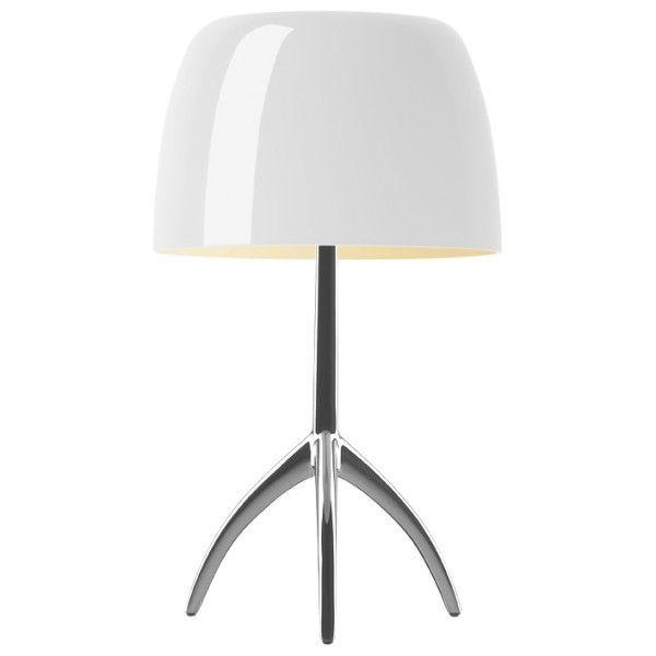 Foscarini Lumiere grande tafellamp-Warm wit-Aluminium