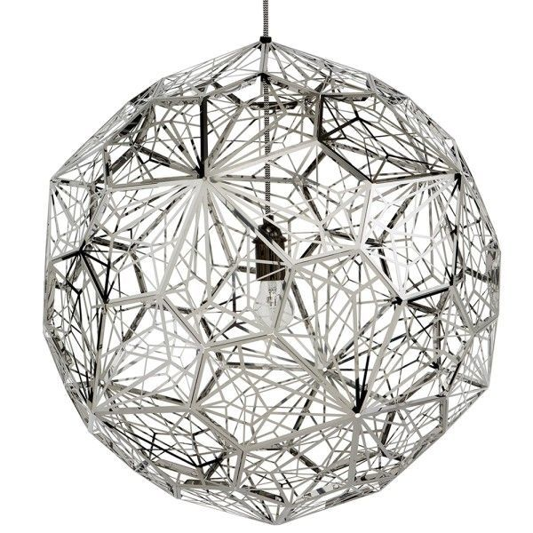 Tom Dixon Etch Web hanglamp-RVS