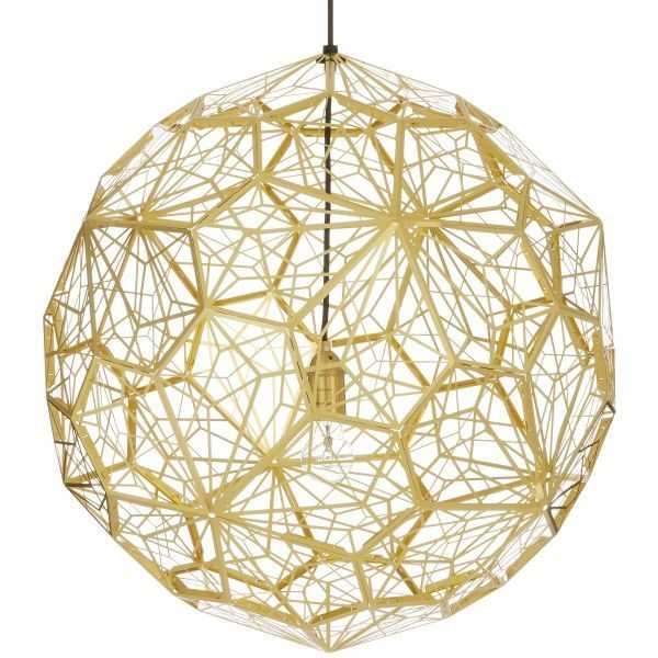 Tom Dixon Etch Web hanglamp-Messing