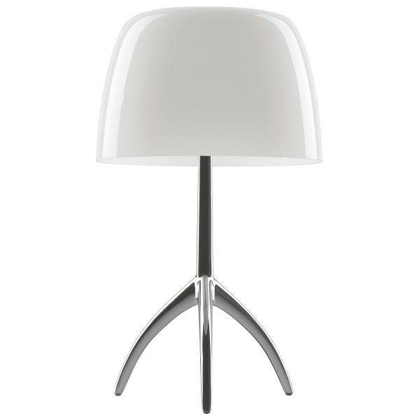 Foscarini Lumiere grande tafellamp-Wit-Aluminium