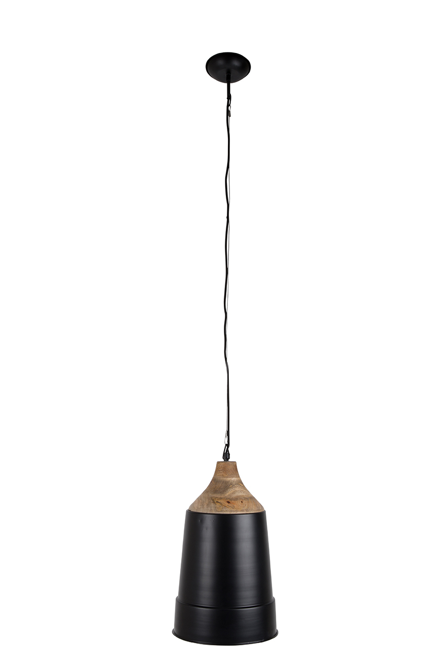 Dutchbone Wood Top hanglamp-Zwart