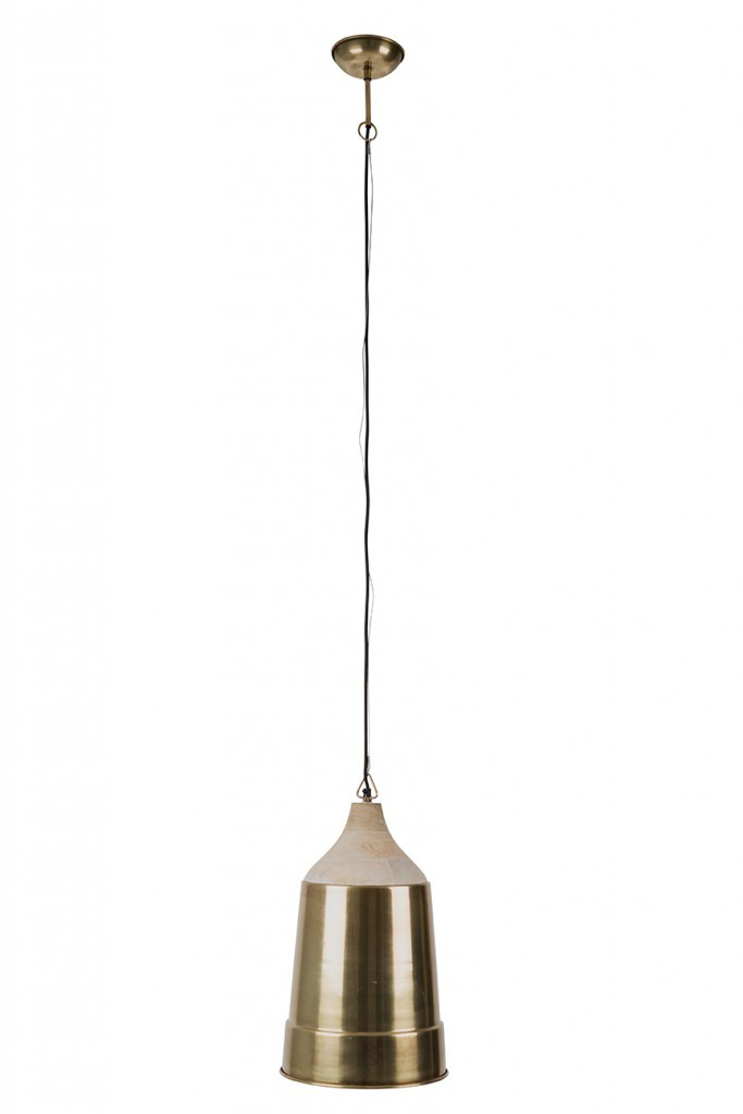 Dutchbone Wood Top hanglamp-Goud
