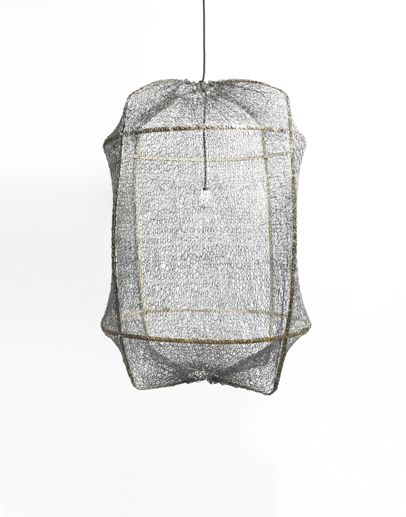 Ay illuminate Z1 Black Sisal Net hanglamp grijs