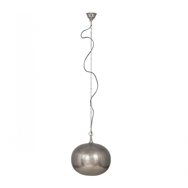 Zuiver Hammered Round hanglamp-Nikkel